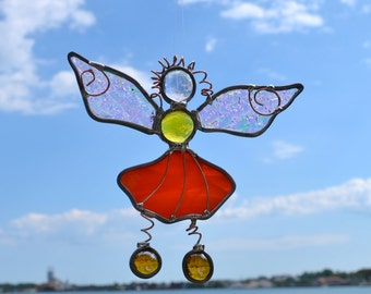 Garden Fairy Stained Glass Suncatcher