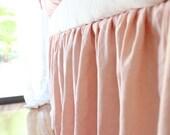 SIMPLE..baby crib skirt