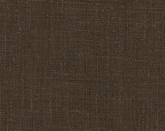 medium weight linen..chocolate...1 yard of softend 100% euro linen