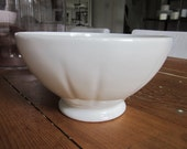 Vintage large white French cafe au lait bowl.