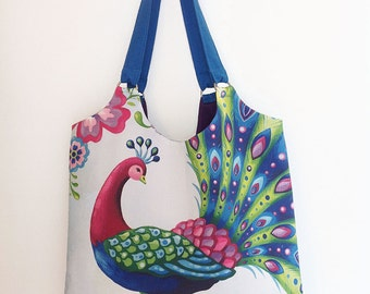 Peacock Shoulder Tote Bag