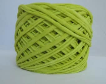 T Shirt Yarn Hand Dyed-Chartreuse 60 Yards