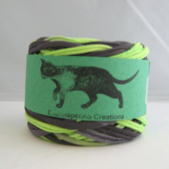 T shirt yarn hand dyed black neon green 60 yards t for T shirt printing st charles mo