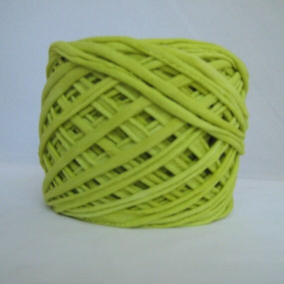 T shirt yarn hand dyed chartreuse t shirt yarn yellow for T shirt printing st charles mo