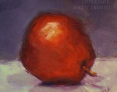 Kitchen Art Red Pear Original Oil Painting Wedding Home Gift Ideas