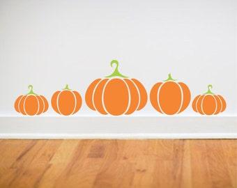Pumpkins wall decals - fall decor - Pumpkins Decals - October fall decor - Halloween - Thanksgiving - Orange pumpkins - Pumpkin Decals