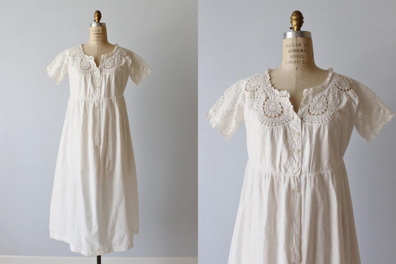 1900s Cotton Dress / Antique Cotton Dress / Cotton Tunic
