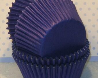 Blueberry Cupcake Liners  (45)  Dark Blue Cupcake Liners, Navy Blue Cupcake Liners, Dk Blue Muffin Cups