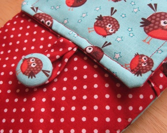 Custom Made Padded Gadget Case. iPad, Kindle, Nexus etc. You choose fabrics!