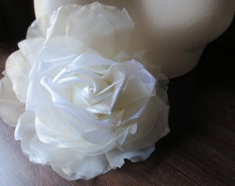 Lt. Ivory ROSE Silk and Organza for Bridal, Bouquets, Hats MF 137 - 6364/6128