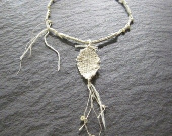 of the essence - undyed fibre necklace