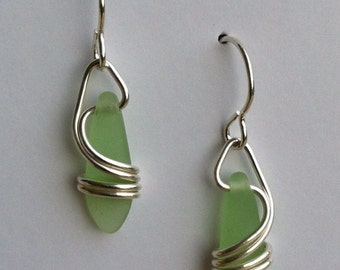 Light Green Right Coast Earrings