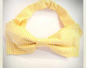 Pin Up -style Hair Bow, yellow