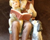 "Treasured Memories ""Storytime With Grandpa"" by Enesco 1983 Porcelain Figurine"