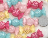 Resin Candy Cabochons - 27mm Lovely Candy Resin Cabochons - 6 pc set