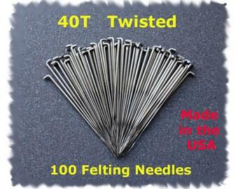 Dream Felt - NEW Twisted (Spiral) Needle Felting Needles 100 - 40T