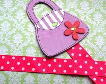 Purple Pocketbook Bowholder