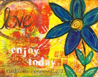 """Enjoy Today 5""""x7"""" Blank All Occasion Greeting Card with Envelope, All Occasion Notecard, Stationery, Wholesale Cards"""