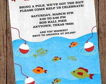 Gone Fishing Birthday Invitations - 1.00 each with envelope