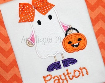 Machine Embroidery Design Applique Ghost Girl Patch INSTANT DOWNLOAD