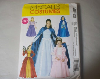 New McCall's Misses'  Costume Pattern M6420  (Free US Shipping)