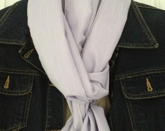 Lavender Pinstripe Scarf - Extra long