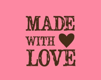 Crafting Stamp   Rubber Stamp   Made with Love Stamp   Vintage Stamp   Craft Stamp   A9