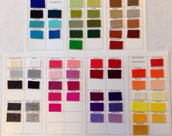Felt Swatch for Handmade Haven's Pure Wool Felt Sheets - Wool Felt - Swatches