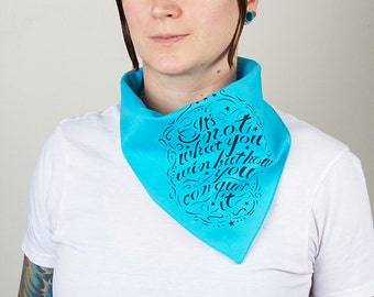 Airbrushed Motivational Quote Roller Derby Bandana