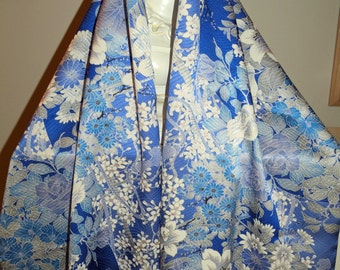 Silk Kimono Fabric Scarf/Shawl/Wrap/Shrug..Long Island Bride/Bridal/Wedding Gift..Cherry Blossoms..Roses..Orchids..see Clutch