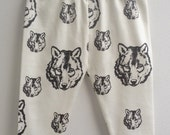 littlefour organic cotton knit wolf print children's leggings NB-5T
