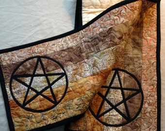 Pentagram Table or Ritual Altar Runner  Wiccan Pagan Magic Pentacle
