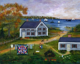 Autumn in Polpis, Nantucket - Limited Edition Print _ by J.L. Munro
