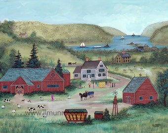 Farm on the Hudson - Limited Edition Print _ by J.L. Munro