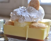 Blissful Banana Cream Pie Soap with Whipped Cream