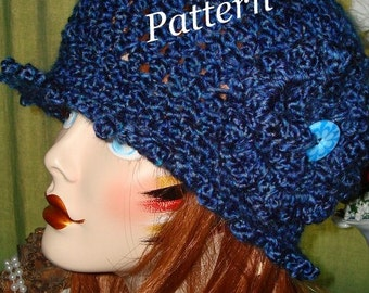 Pattern-Crochet Edwardian Claire Style Cloche Flapper in PDF Format Digital Download  (Hat pattern only) May sell finished product