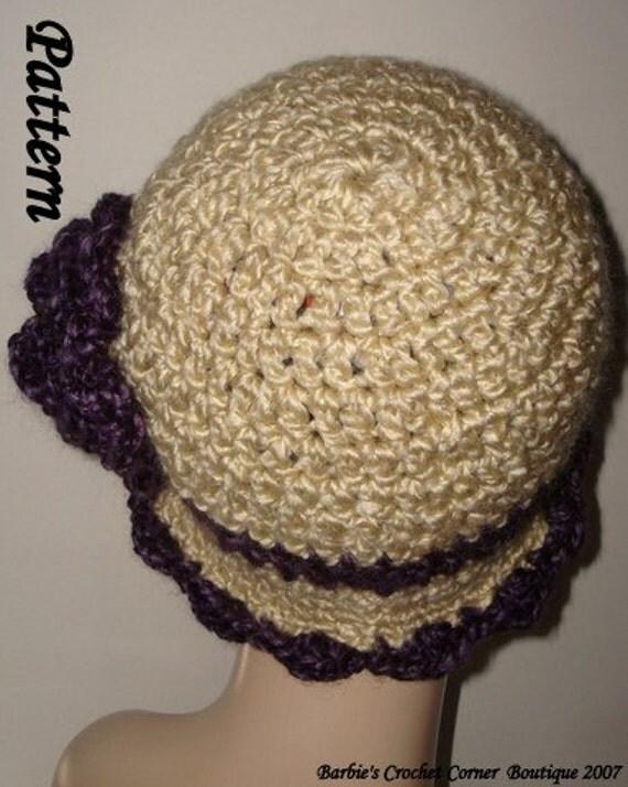 pattern crochet edwardian style cloche flapper hat wrose