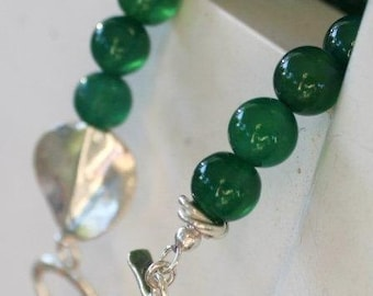 Emerald Green Stacking Bracelet