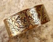 Etched Brass Cuff Art Deco Design No. 7
