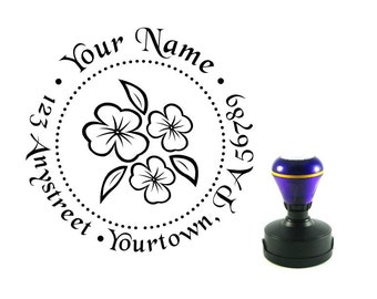 Personalized Self Inking Return Address Stamp - self inking address stamp - Custom Rubber Stamp R12