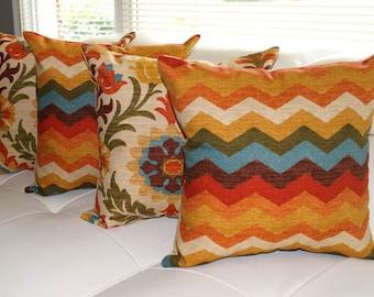 Waverly Panama Wave Adobe and Santa Maria Adobe Decorative Throw Pillows - 4 Pack Free Shipping