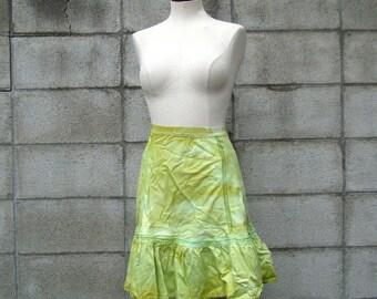Green Petticoat  Crinoline Vintage Adult Lime