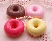 Kawaii Sweets Decoden Cabochons Big Fudge Donuts  (4pcs) CAS403