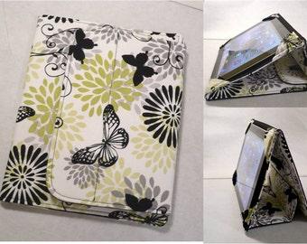 iPad Cover Hardcover Case, iPad 1, iPad 2, iPad 3, iPad 4 , iPad Mini,  Butterfly Splash