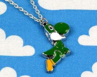 Green Yoshi Super Mario Necklace