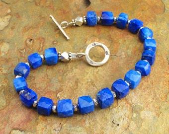 Lapis Lazuli Thai Hill Tribe Silver Bracelet - Nile