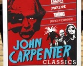 Limited Edition John Carpenter screen print poster. 3 Color. Signed and numbered run of 100.