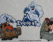 DISNEY Expedition EVEREST Scrapbook Page Paper Piecing Pieces Set - SSFF