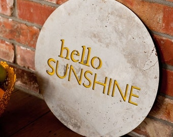 hello sunshine recycled steel art for outdoors