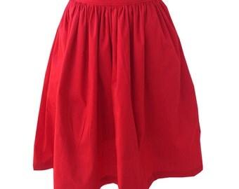 Gather Waist Skirt, Red Gather Waist Skirt, Green Gather Waist Skirt